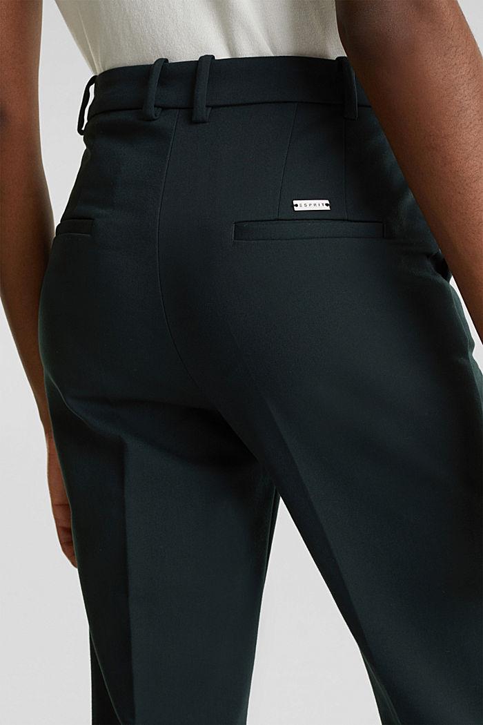 Stretch-Hose mit Bügelfalten, DARK TEAL GREEN, detail image number 6