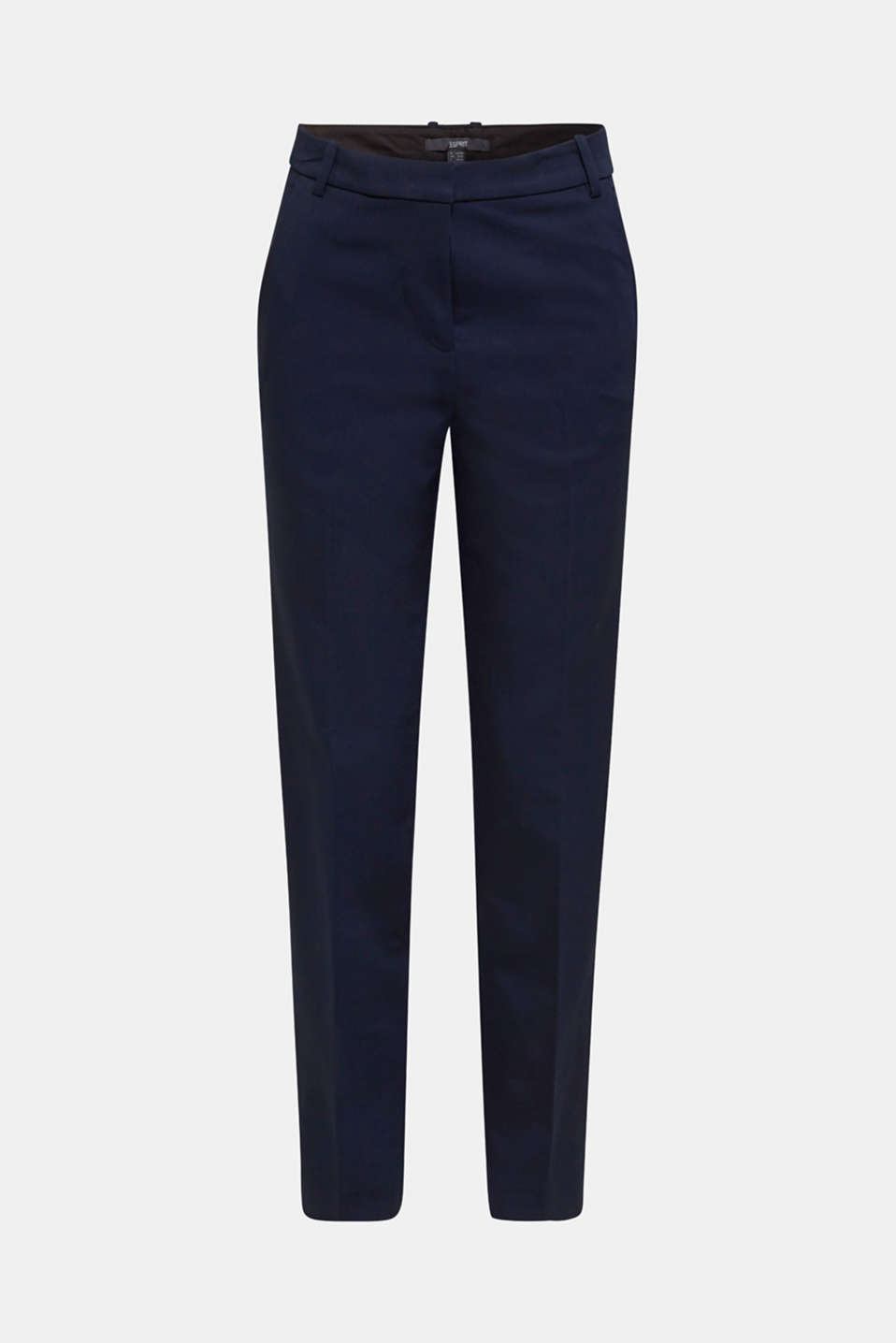 Stretch trousers with pressed pleats, NAVY, detail image number 7