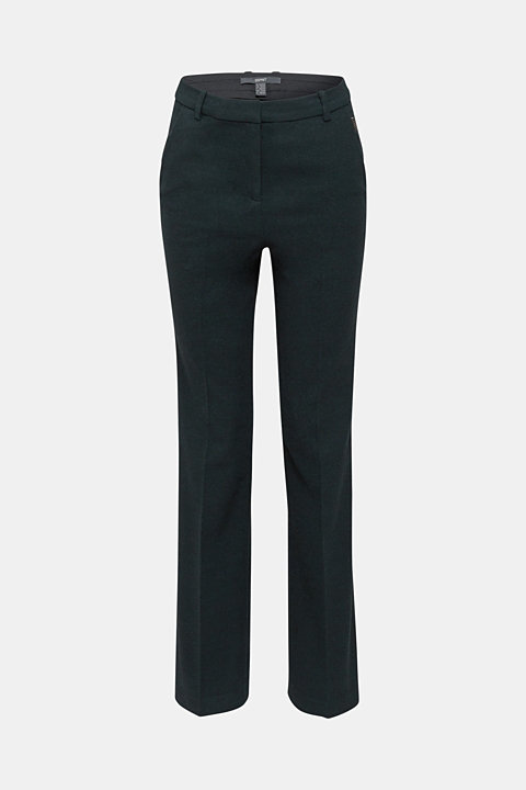 Flannel trousers with stretch for comfort