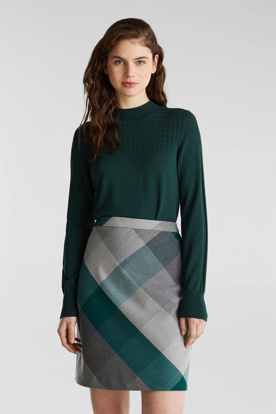 Skirts woven, BOTTLE GREEN, detail image number 0