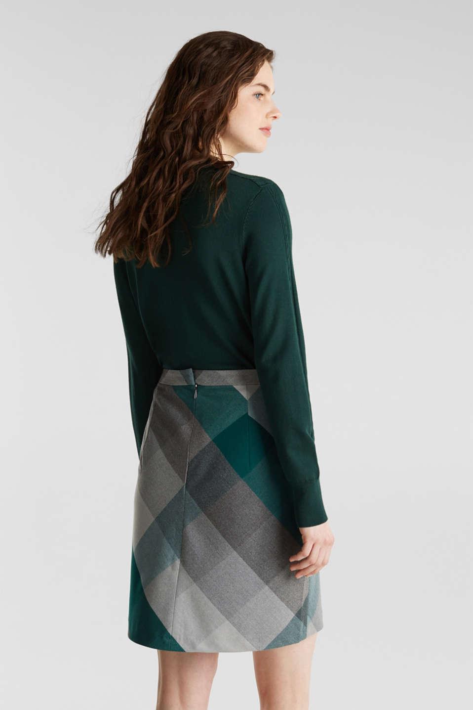 Skirts woven, BOTTLE GREEN, detail image number 3