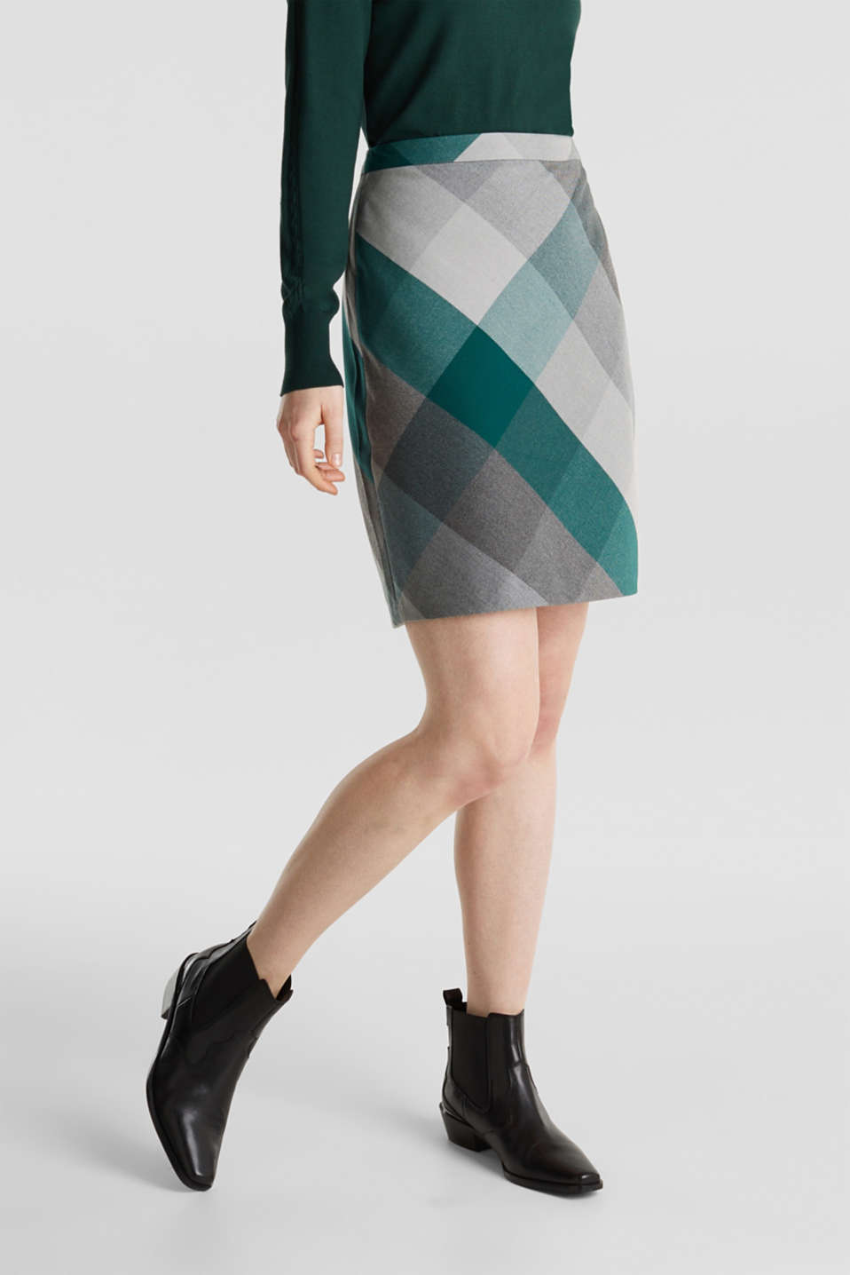 Skirts woven, BOTTLE GREEN, detail image number 5