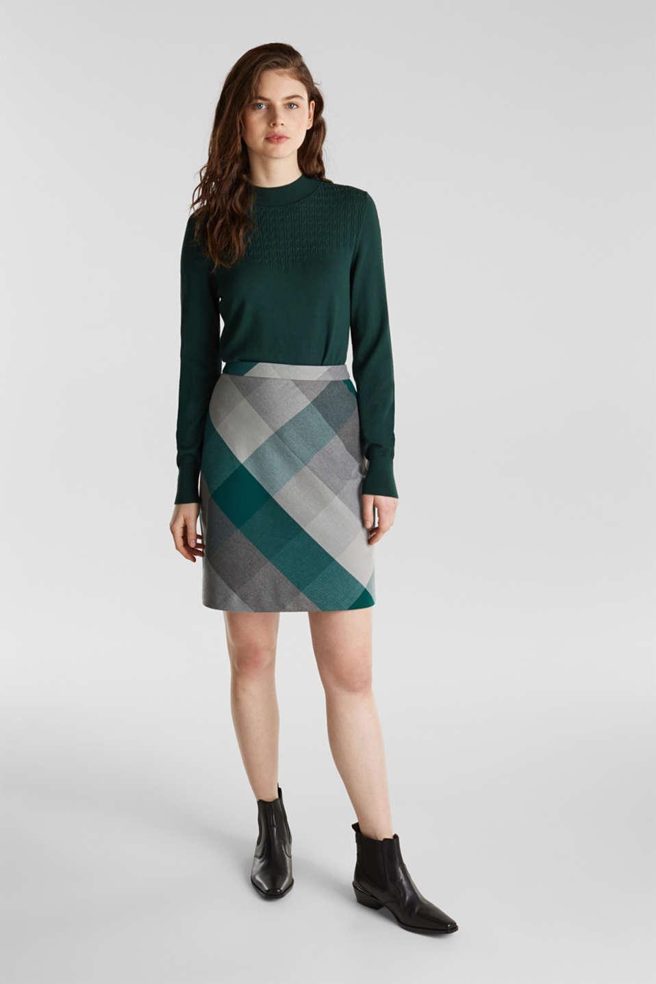Skirts woven, BOTTLE GREEN, detail image number 1