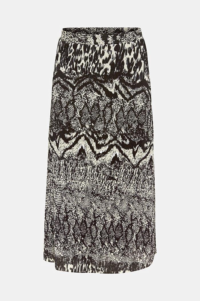 Pleated skirt with an animal print