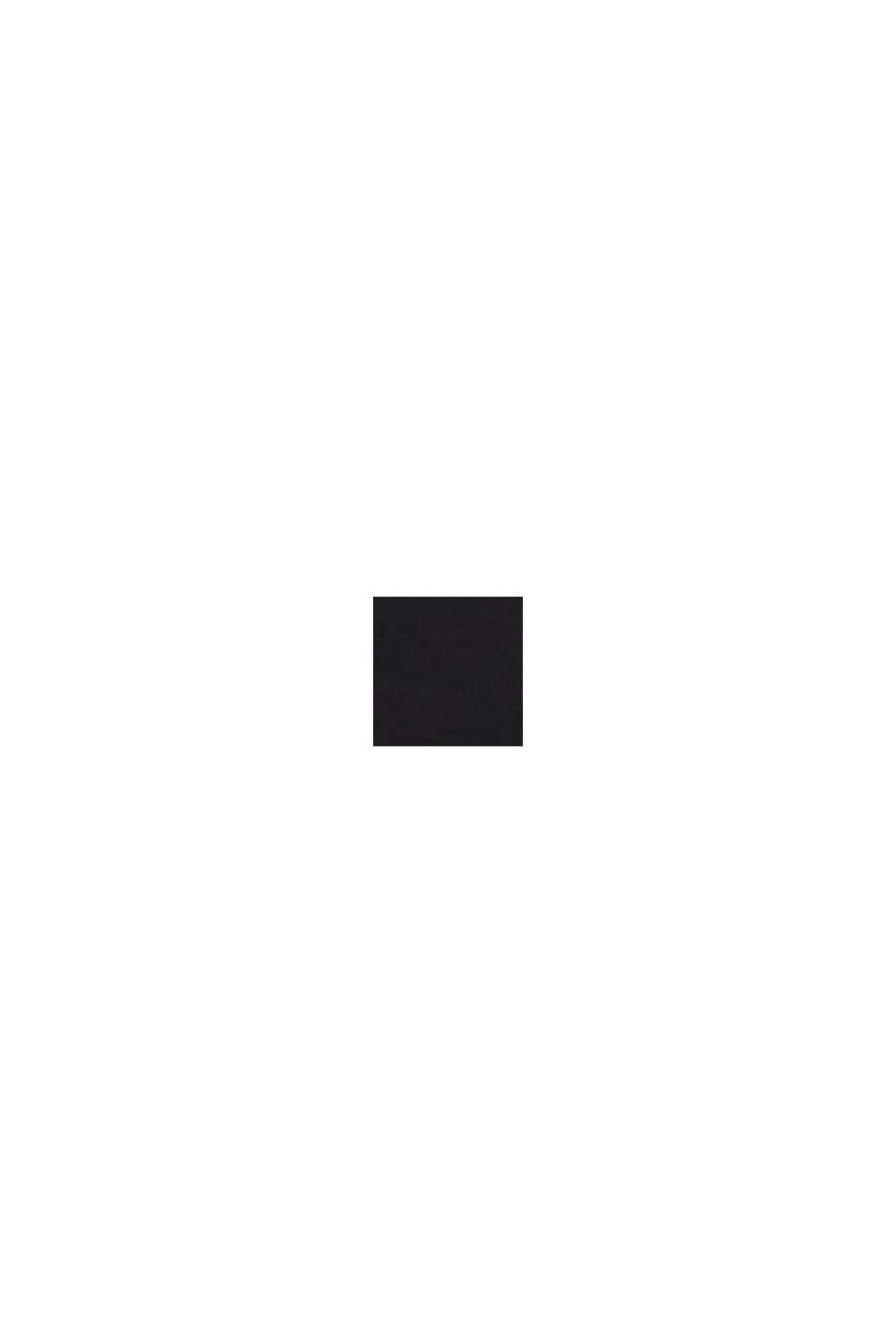 Kjole i jerseystretch med rullekrave, BLACK, swatch