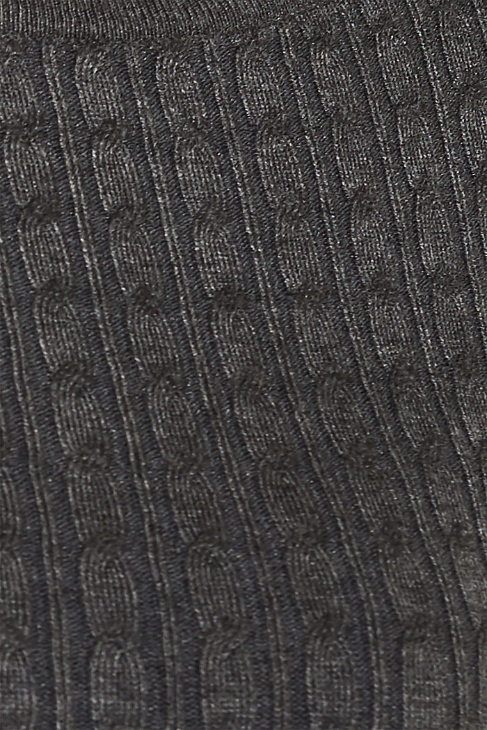 Knit dress with LENZING™ ECOVERO™, GUNMETAL, detail image number 4