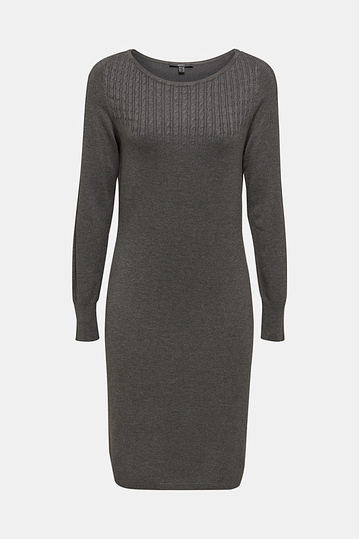 Knit dress with LENZING™ ECOVERO™, GUNMETAL, detail image number 5