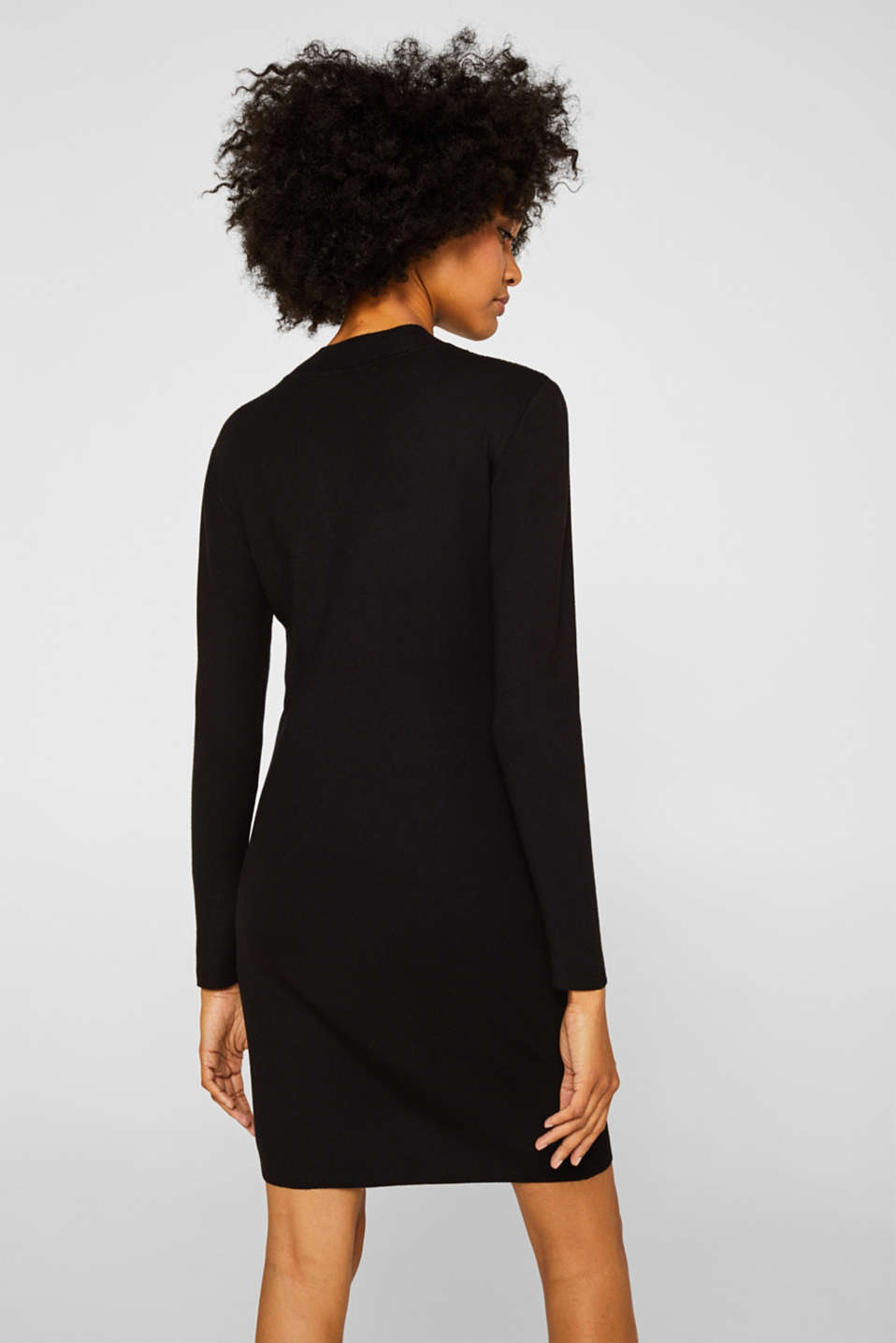 Knit dress with LENZING™ ECOVERO, BLACK, detail image number 2