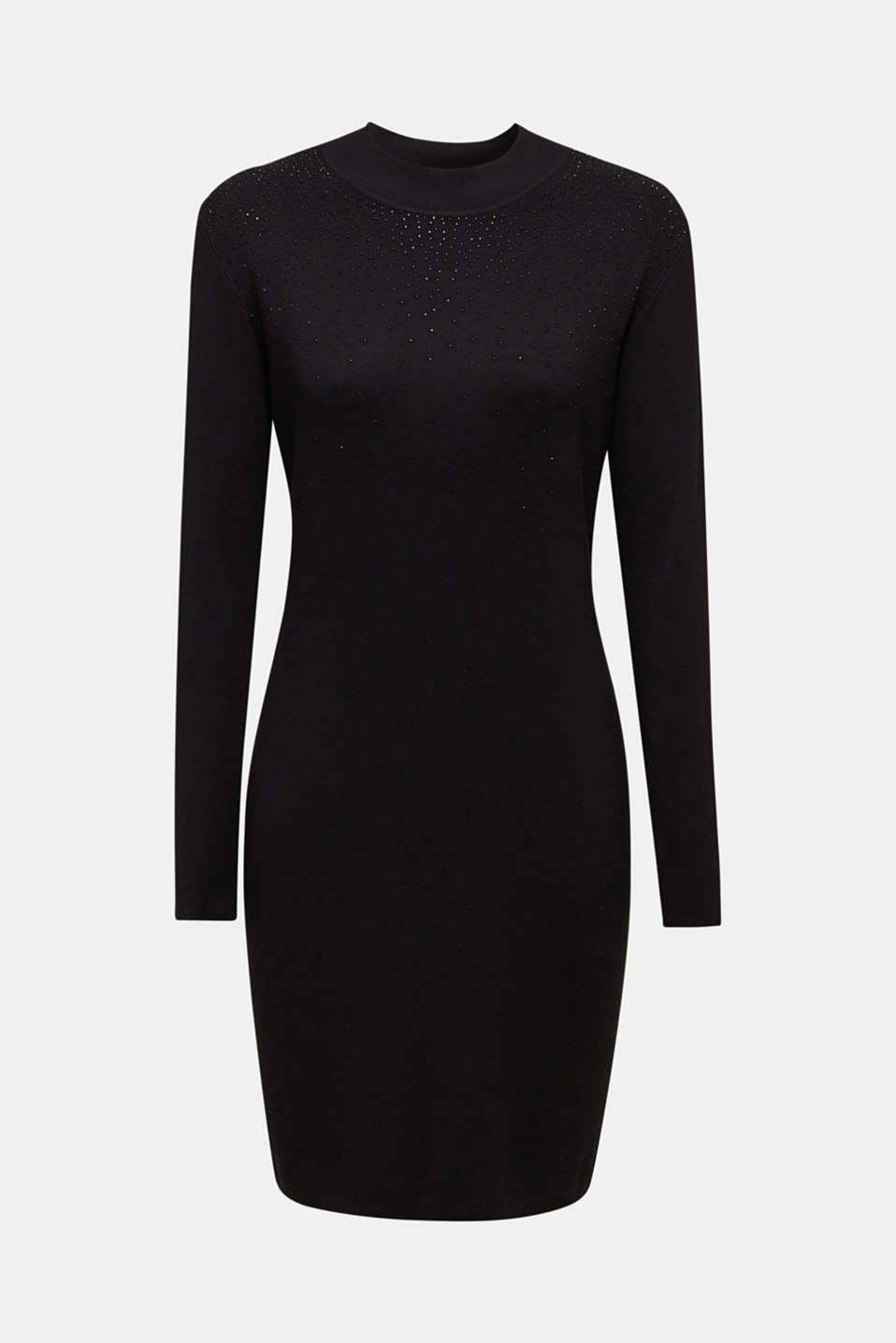 Knit dress with LENZING™ ECOVERO, BLACK, detail image number 6