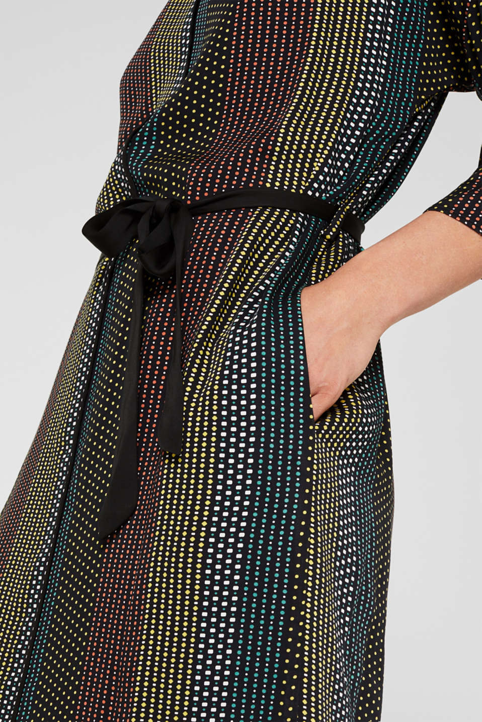 Dresses light woven, BLACK 3, detail image number 4