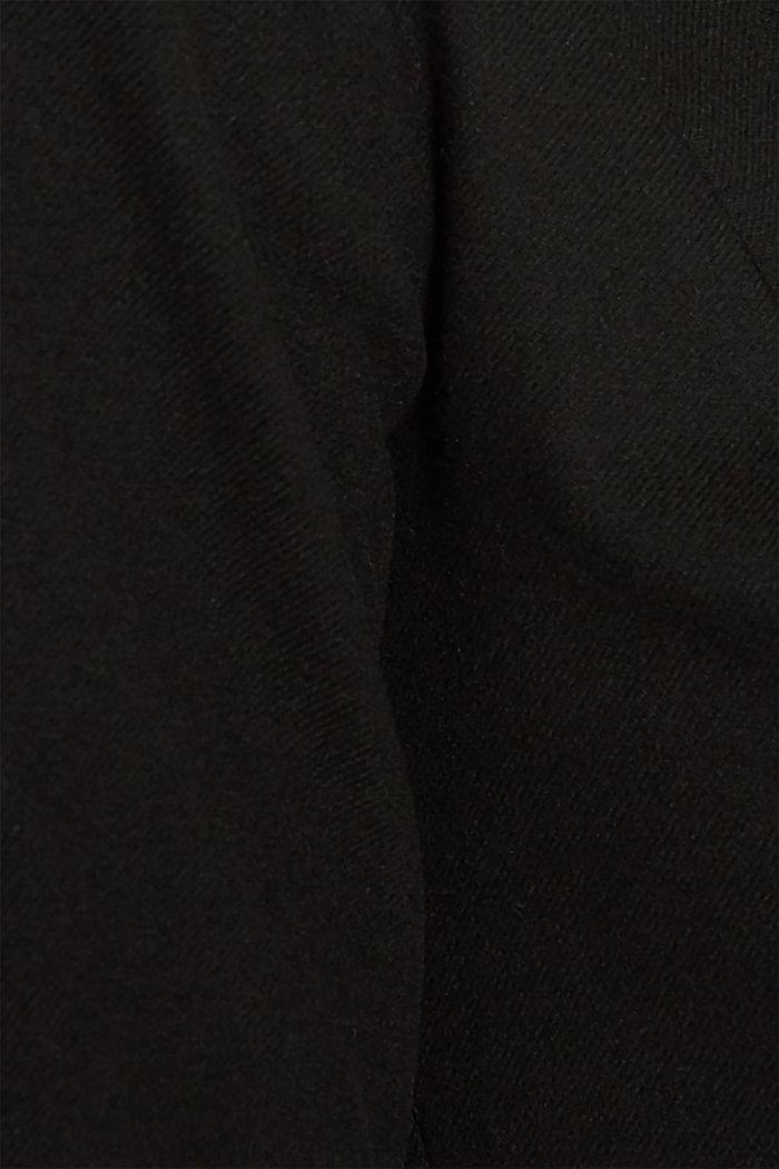 Flannel dress with a belt, BLACK, detail image number 4