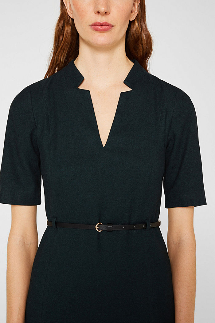 Flanell-Kleid mit Gürtel