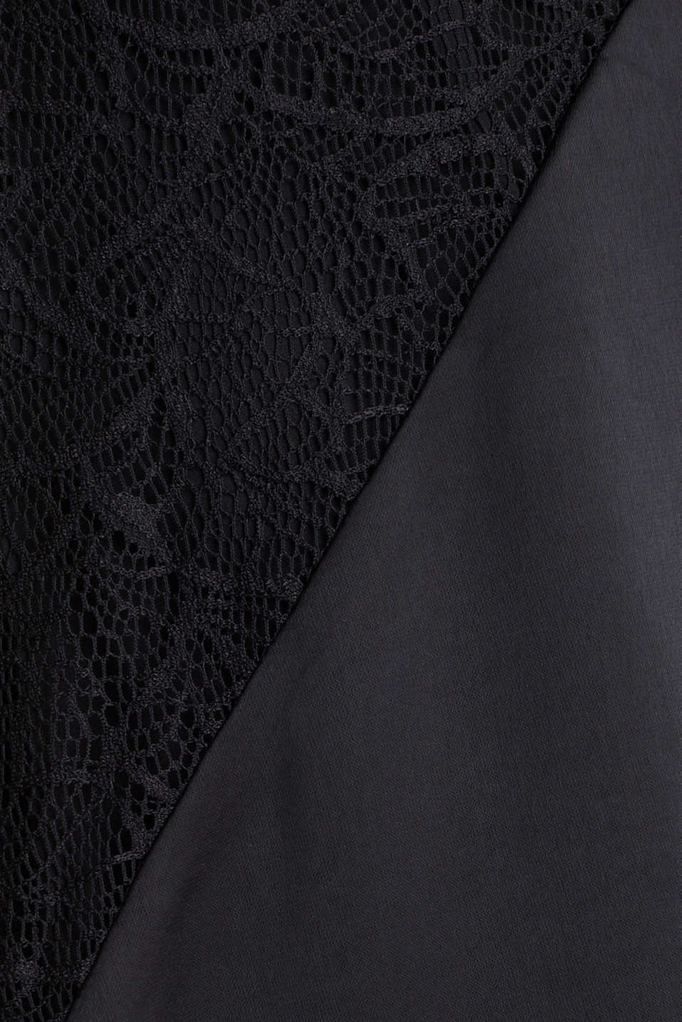 Maxi dress made of satin and lace, BLACK, detail image number 4