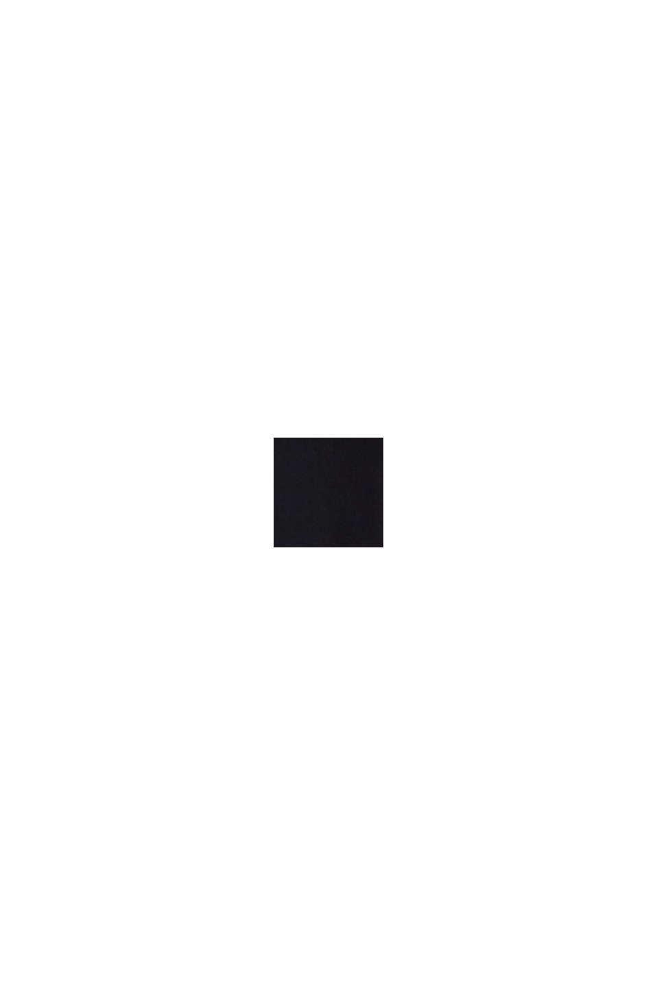 Jerseyklänning med skärp, BLACK, swatch