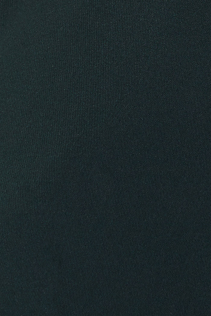 Stretch dress with band collar and lace, DARK TEAL GREEN, detail image number 4