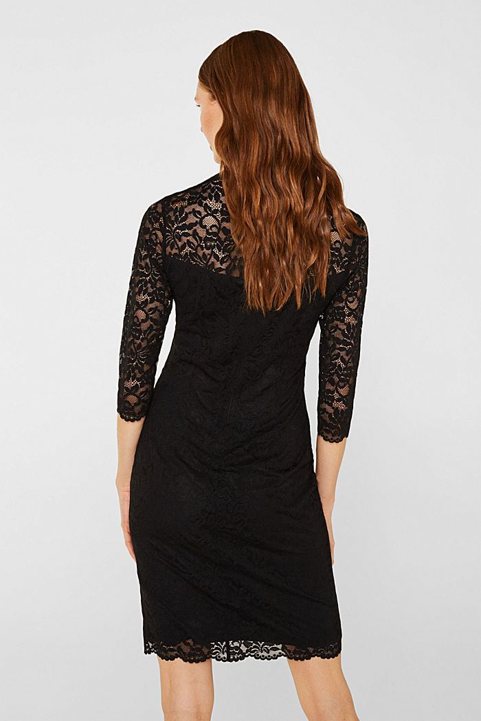 Floral lace dress with stretch, BLACK, detail image number 2