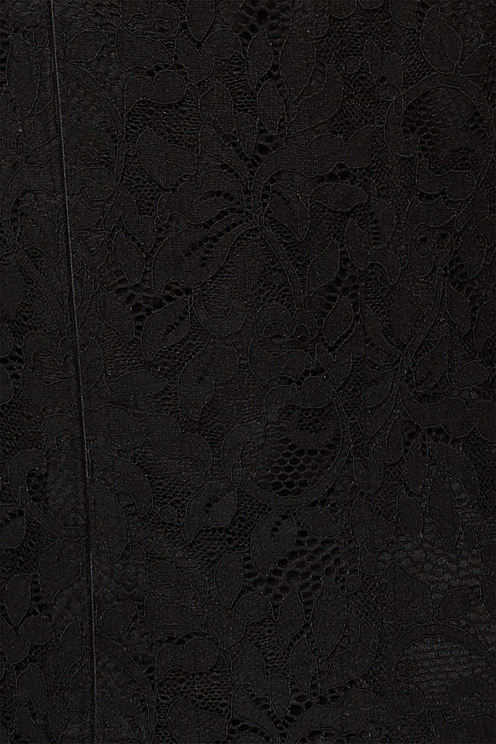 Floral lace dress with stretch, BLACK, detail image number 4
