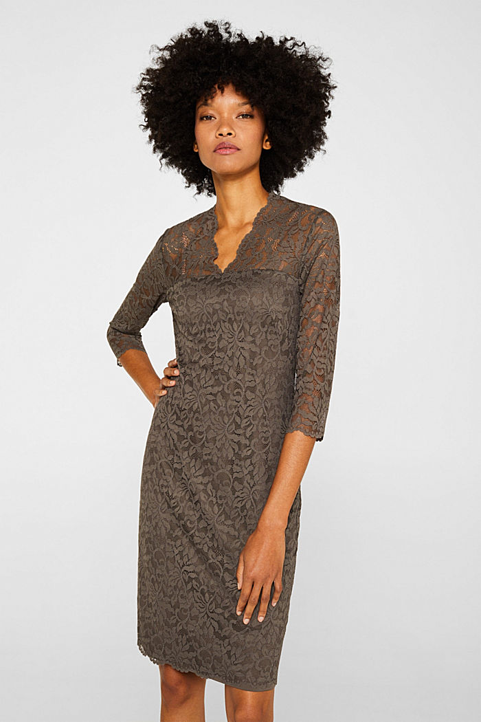 Floral lace dress with stretch
