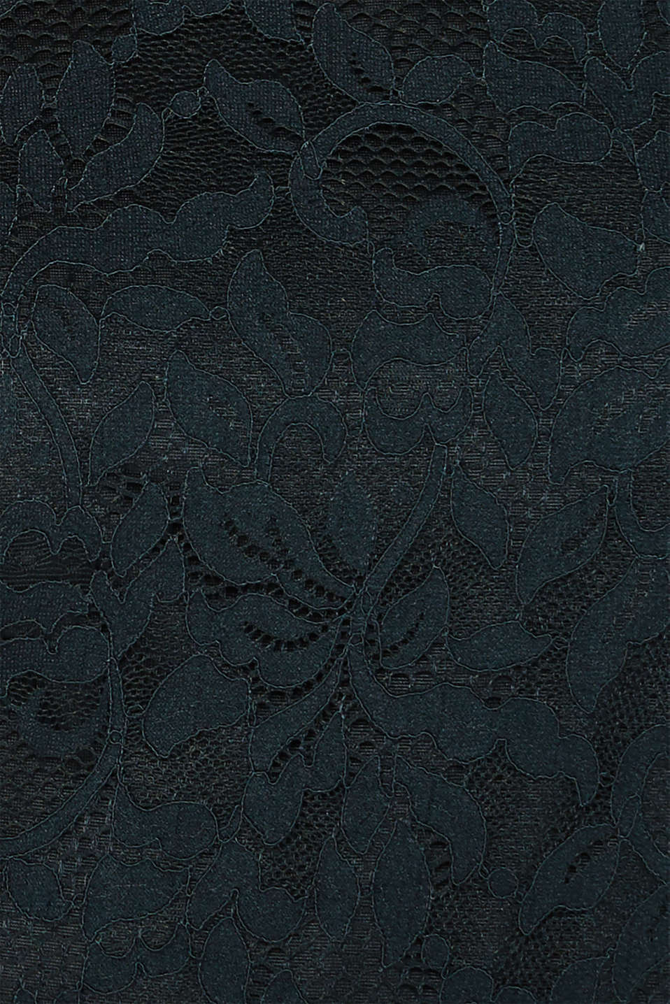 Floral lace dress with stretch, DARK TEAL GREEN, detail image number 4