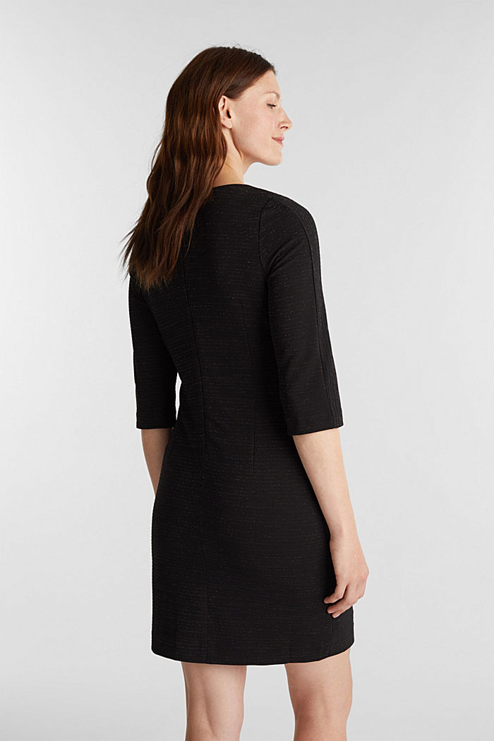 Stretch shift dress with lurex, BLACK, detail image number 2