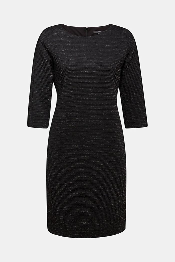 Stretch shift dress with lurex