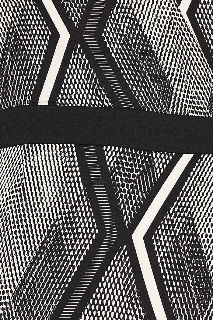 Kleid in Wickel-Optik mit Graphic-Print, BLACK, detail image number 4