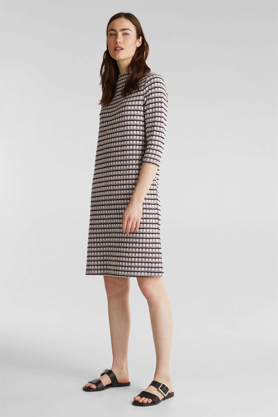 Stretch jersey bouclé dress, PINK, detail image number 1