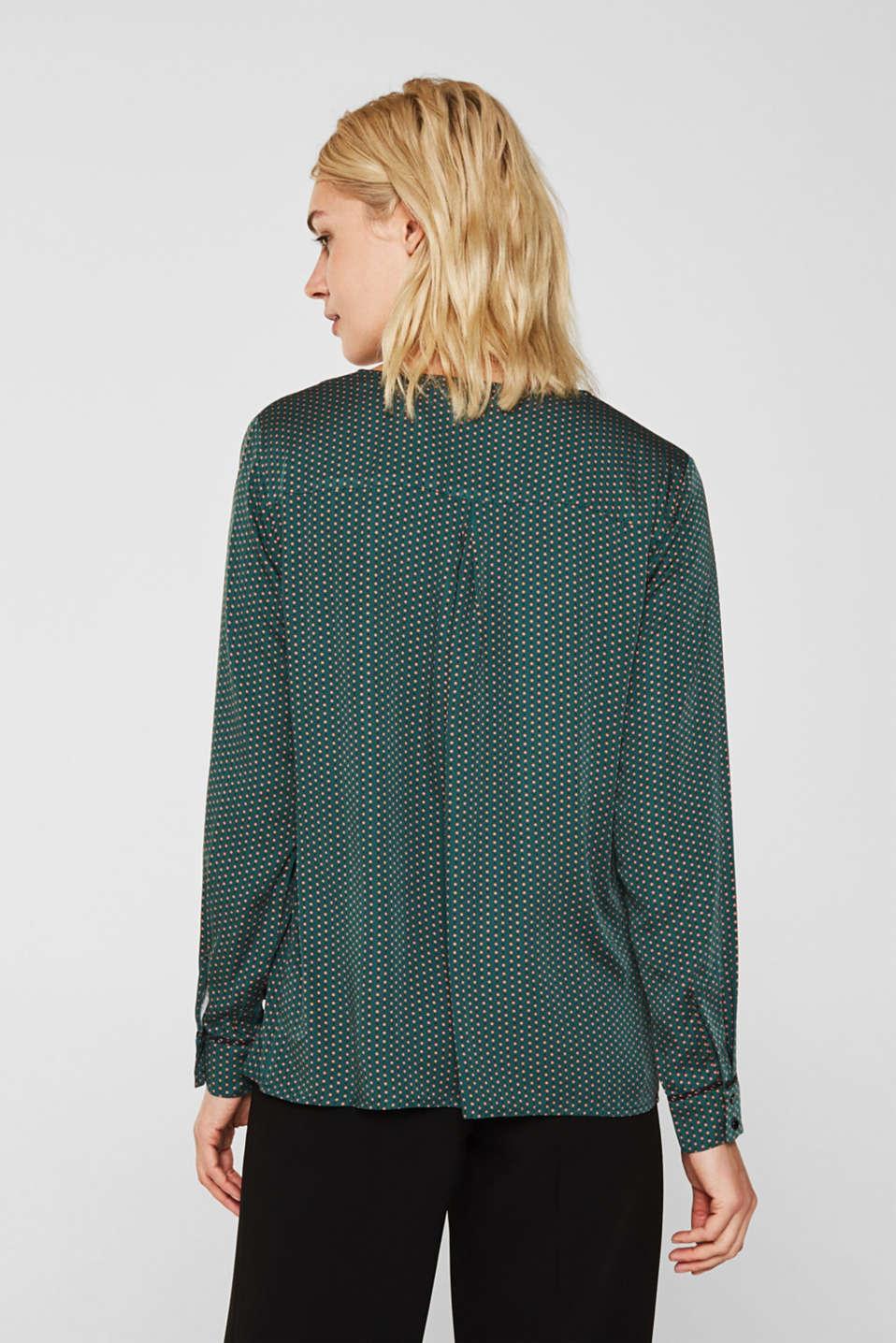 Blouses woven, BOTTLE GREEN 4, detail image number 3