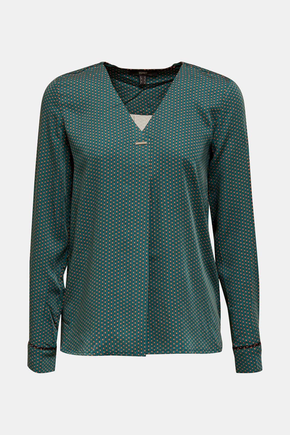 Blouses woven, BOTTLE GREEN 4, detail image number 6