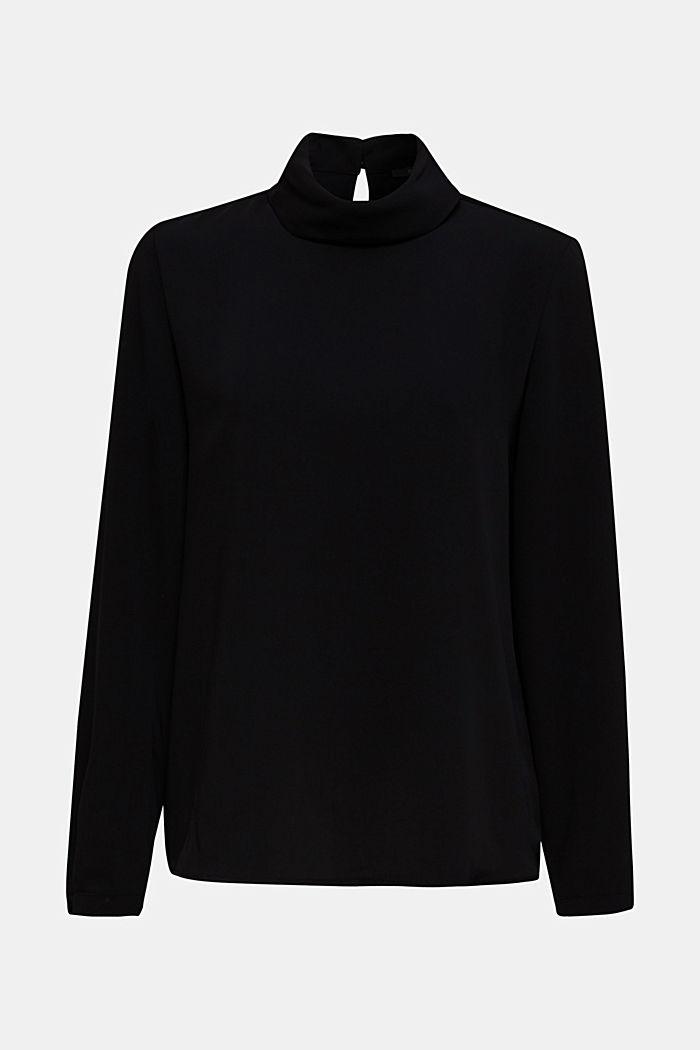 Polo neck blouse
