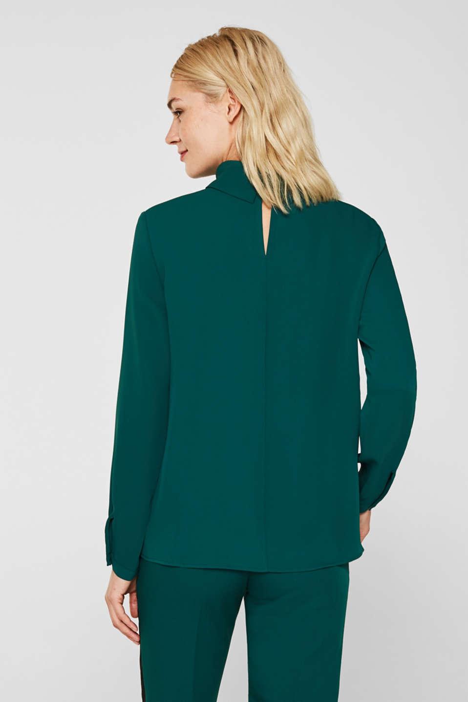 Blouses woven, BOTTLE GREEN, detail image number 3
