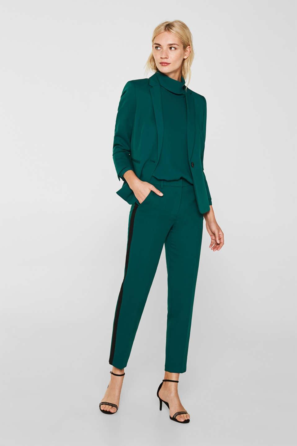 Blouses woven, BOTTLE GREEN, detail image number 1