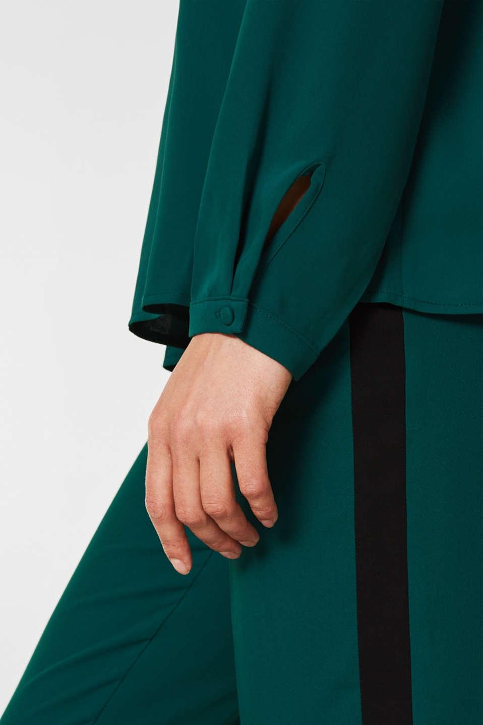 Blouses woven, BOTTLE GREEN, detail image number 2