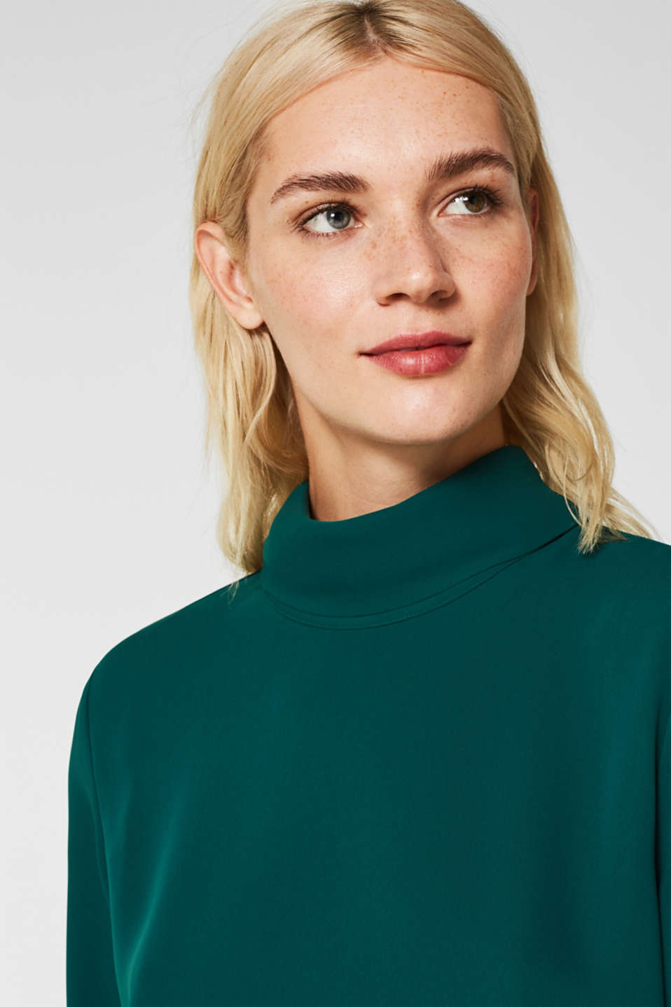 Blouses woven, BOTTLE GREEN, detail image number 5