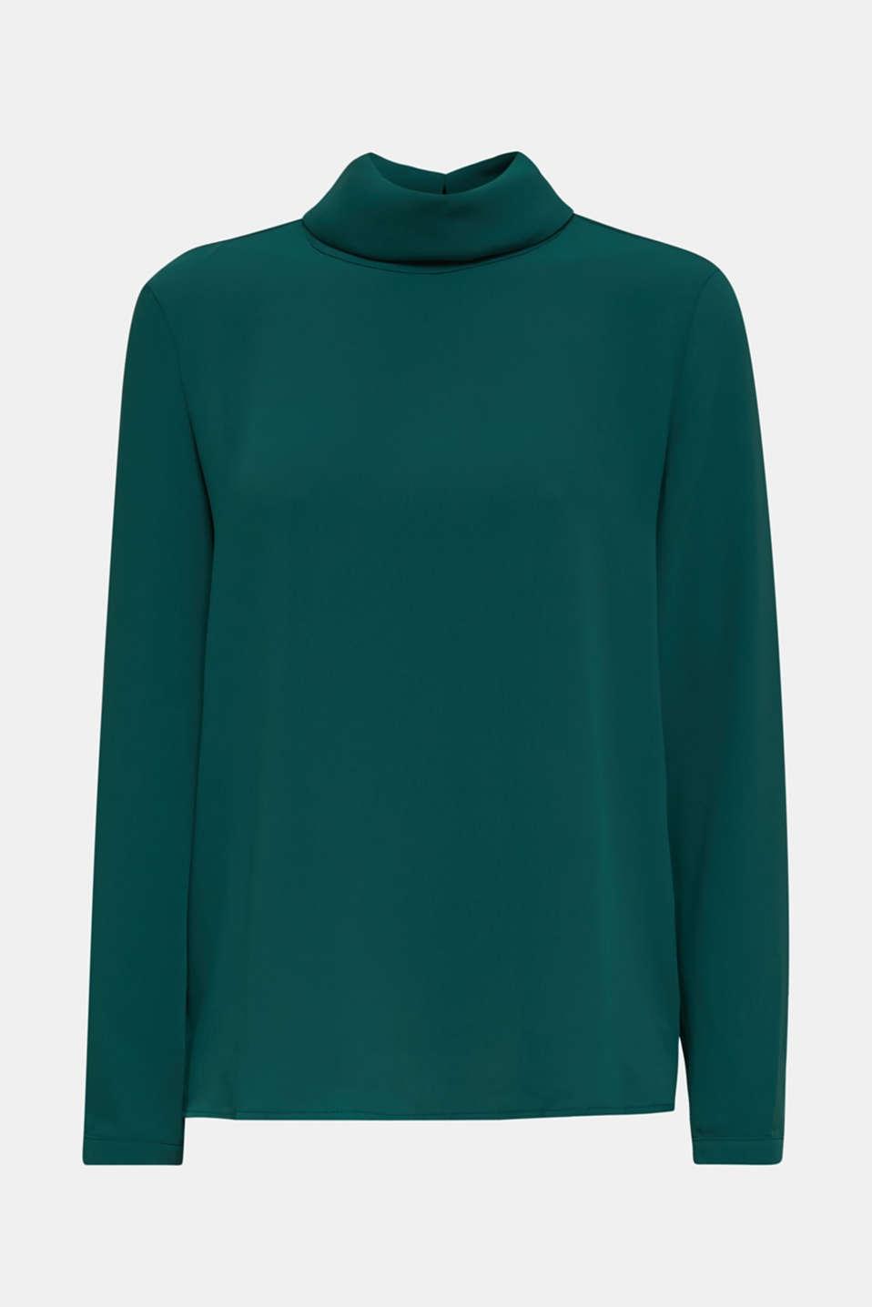 Blouses woven, BOTTLE GREEN, detail image number 6