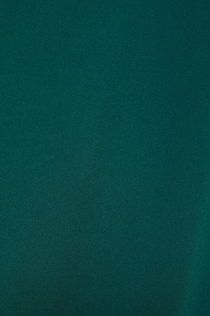Stretchblouse met strikken en onafgewerkte randen, BOTTLE GREEN, detail image number 4