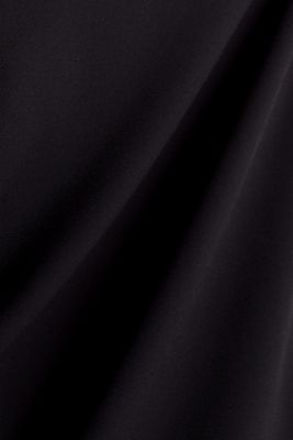 Crêpe blouse with a wrap-over effect at the back, BLACK, detail