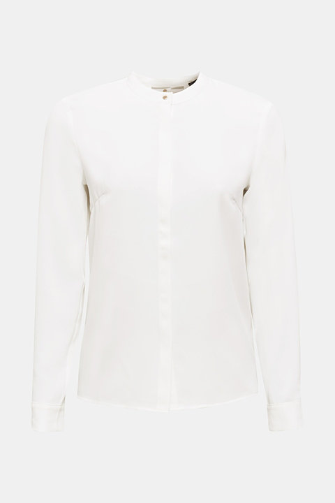 Crêpe blouse with a wrap-over effect at the back