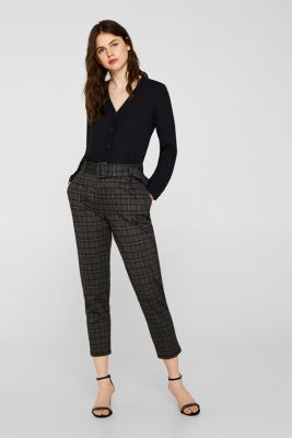 Crêpe blouse with a pleated back section, BLACK, detail