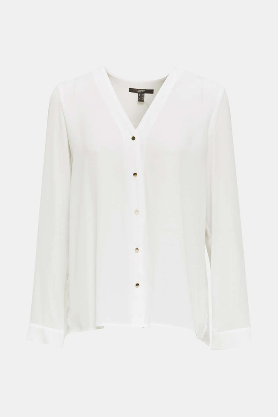 Crêpe blouse with a pleated back section, OFF WHITE, detail image number 5
