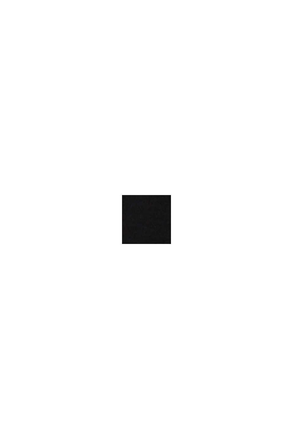 Piqué-Hemdbluse mit Strass-Brosche, BLACK, swatch