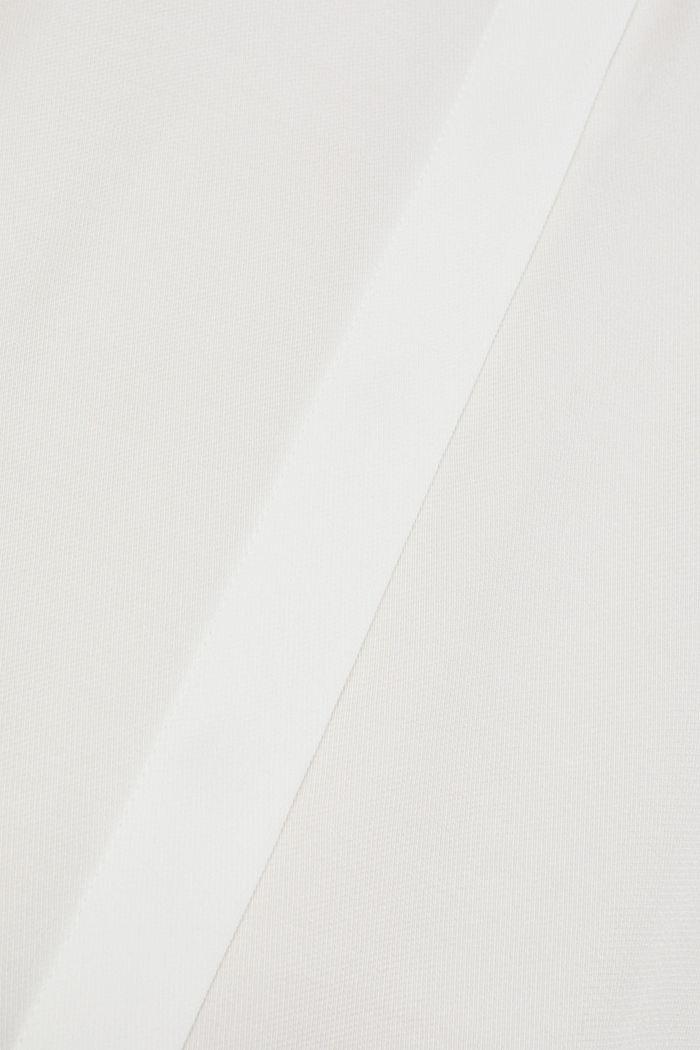Piqué-Hemdbluse mit Strass-Brosche, OFF WHITE, detail image number 4