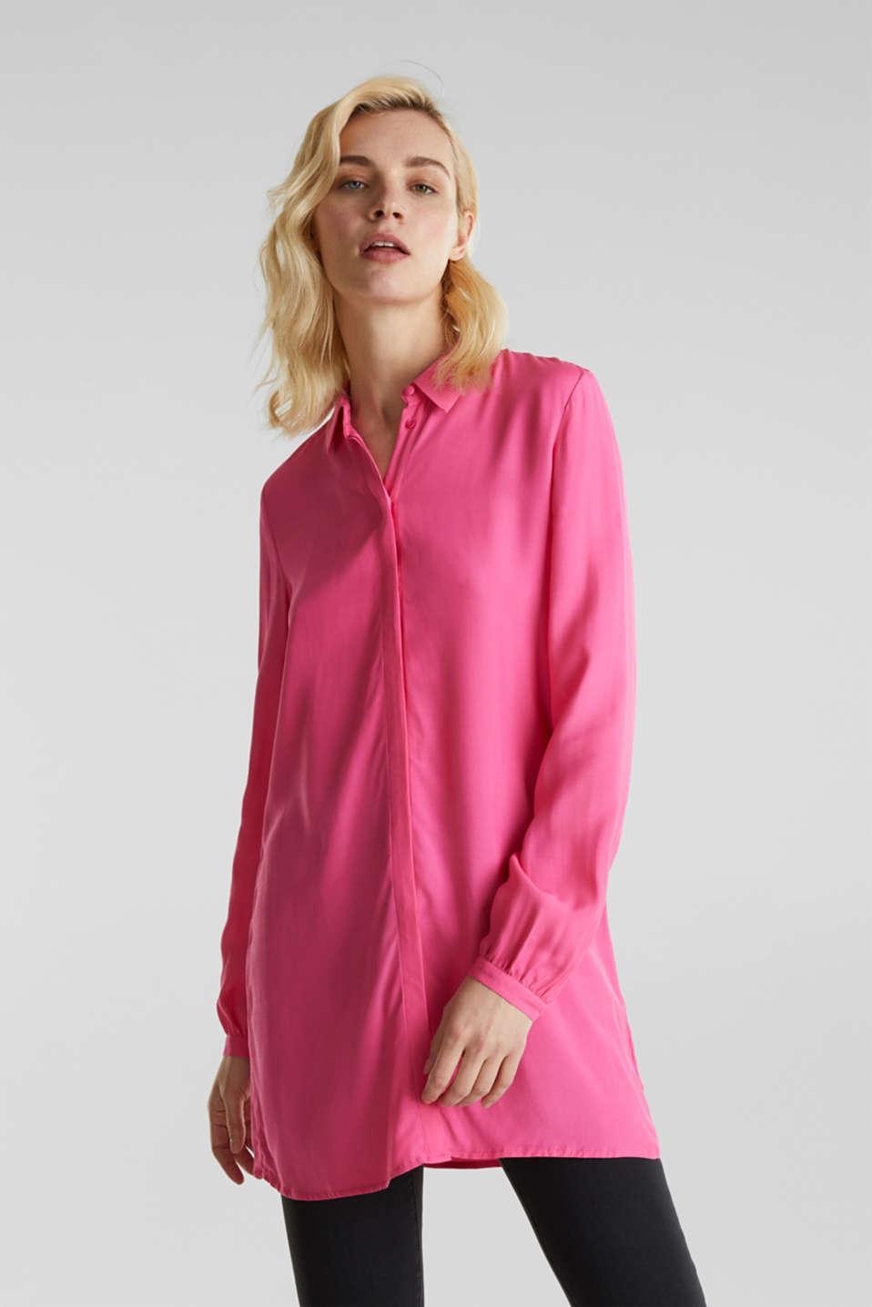 Blouses woven, PINK, detail image number 0