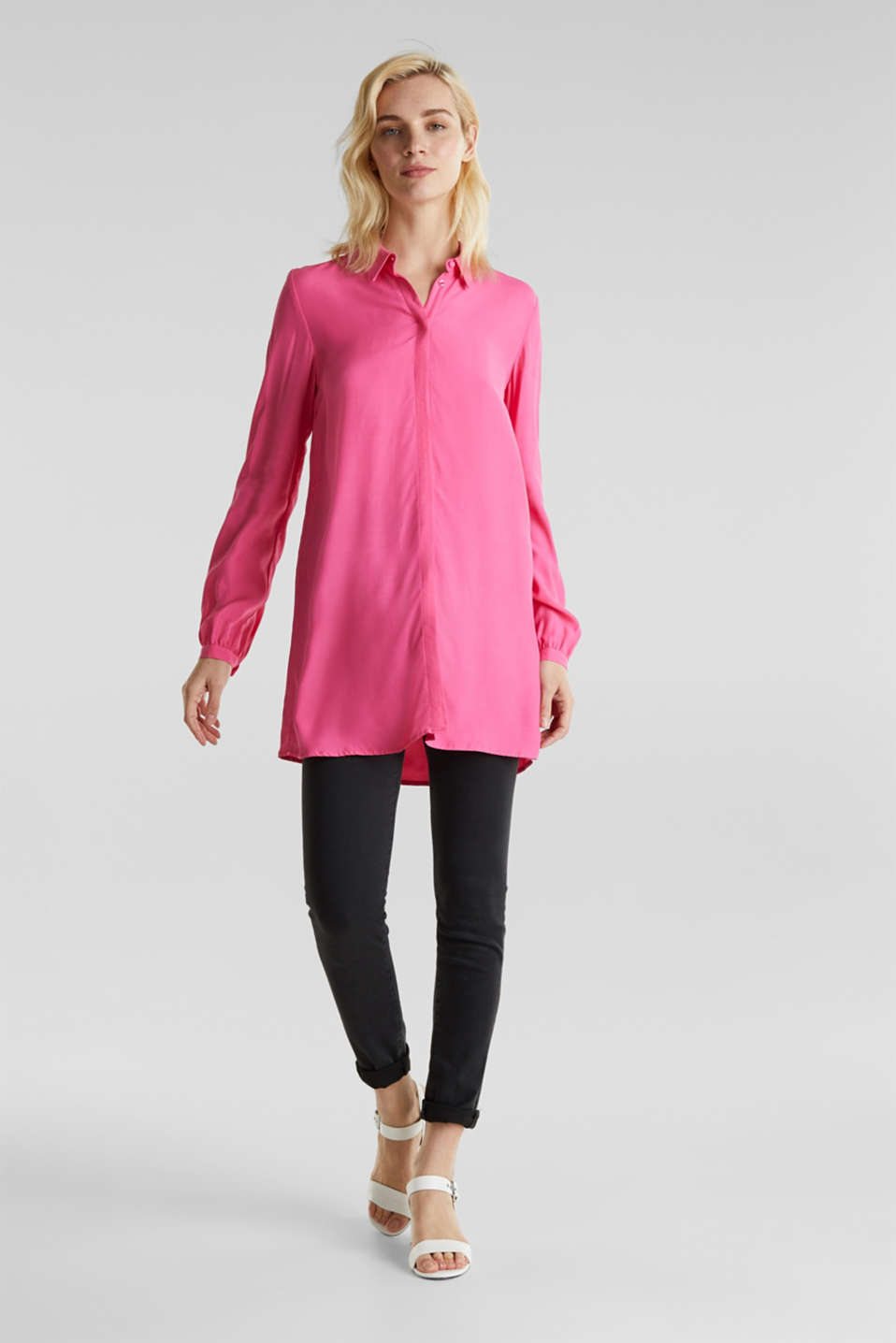 Blouses woven, PINK, detail image number 1