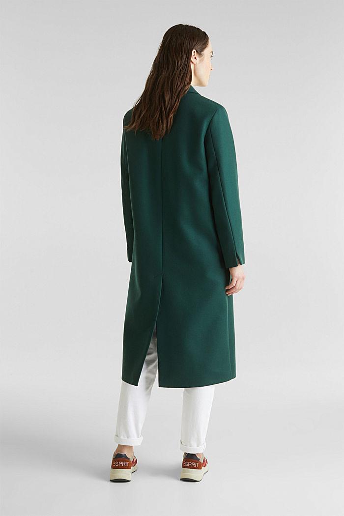 Wool blend: Coat made of Italian yarn, BOTTLE GREEN, detail image number 3