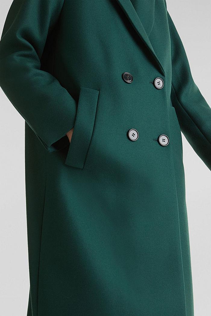 Wool blend: Coat made of Italian yarn, BOTTLE GREEN, detail image number 2