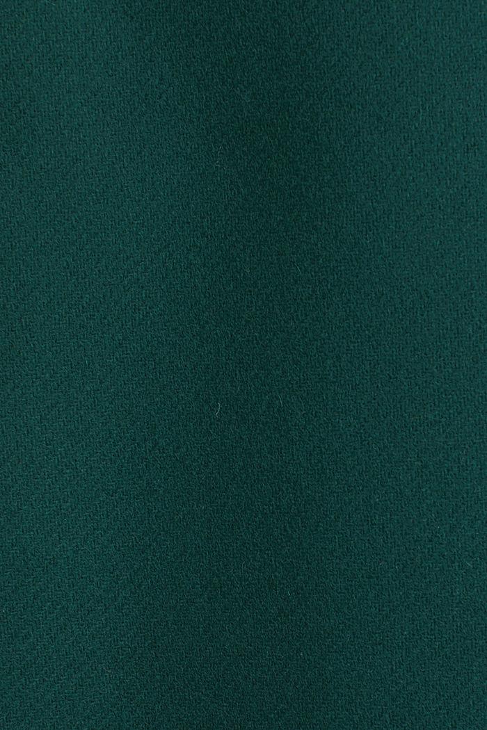 Wool blend: Coat made of Italian yarn, BOTTLE GREEN, detail image number 4