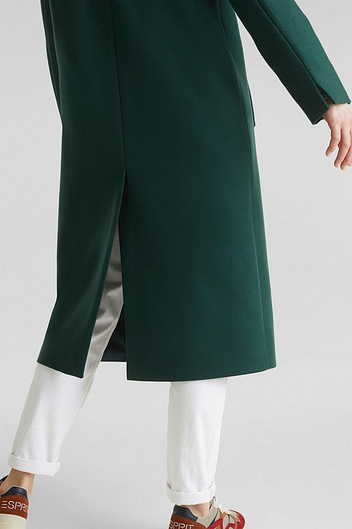 Wool blend: Coat made of Italian yarn, BOTTLE GREEN, detail image number 5
