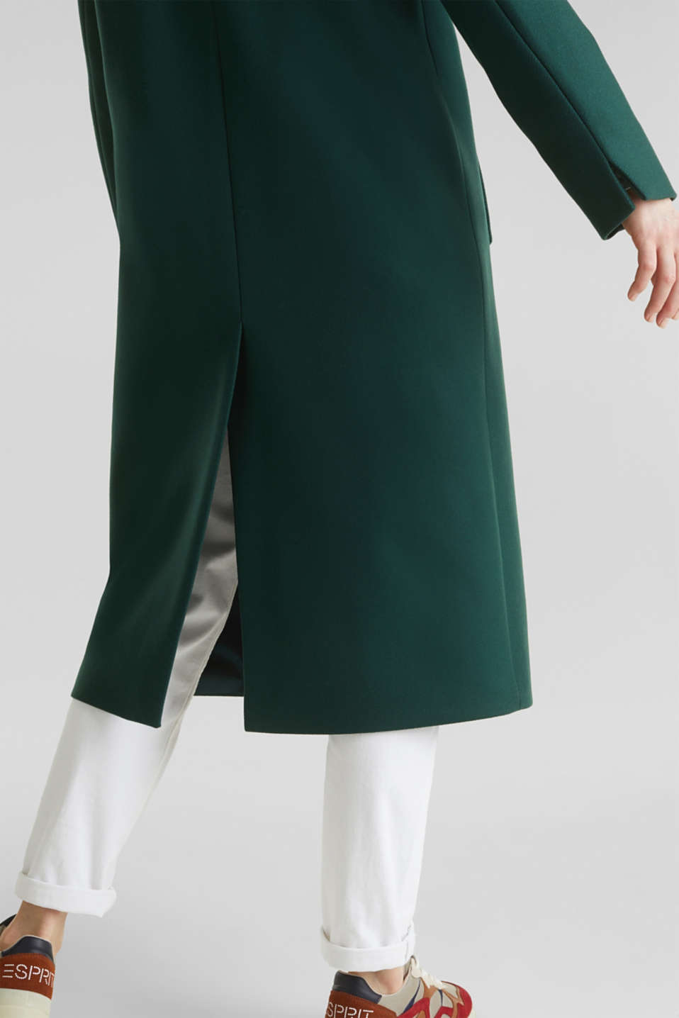 Wool blend: Coat made of Italian yarn, BOTTLE GREEN, detail image number 5