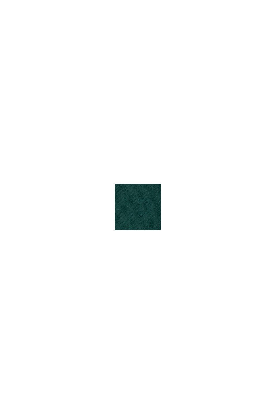 Woll-Mix: Mantel aus italienischem Garn, BOTTLE GREEN, swatch